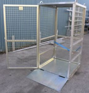 Picture of Gas Cylinder Storage Cage with Ramp (Flat Packed)